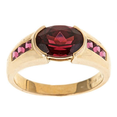 LIMITED QUANTITIES! Red Rhodolite 14K Gold Cocktail Ring