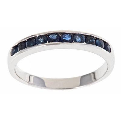 Blue Sapphire 10K Gold Band