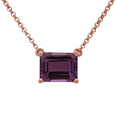 LIMITED QUANTITIES! Diamond Accent Purple Amethyst 14K Gold Pendant Necklace