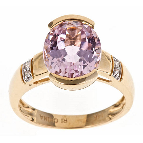LIMITED QUANTITIES! Diamond Accent Pink Tourmaline10K Gold Cocktail Ring