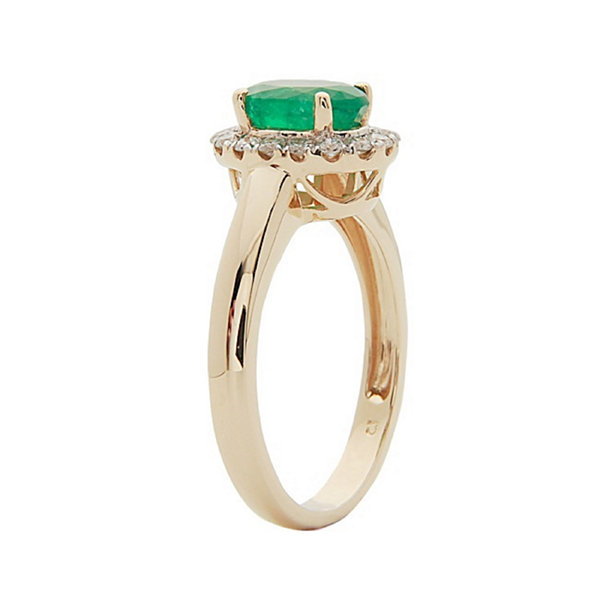 LIMITED QUANTITIES!  1/3 CT. T.W. Genuine Emerald 14K Gold Ring