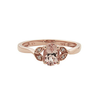 Fine Jewelry LIMITED QUANTITIES! Diamond Accent Pink 10K Gold Cocktail Ring Z2iPWfAtGo
