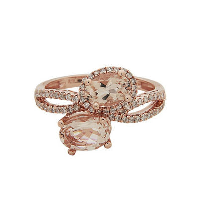 LIMITED QUANTITIES! Womens Pink 14K Gold Bypass Ring