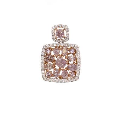 Womens 5/8 CT. T.W. Genuine Pink Diamond 18K Gold Pendant