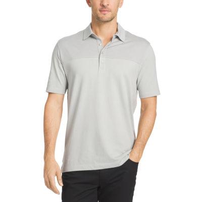 Van Heusen® Short Sleeve Blocked Feeder Stripe Polo Shirt