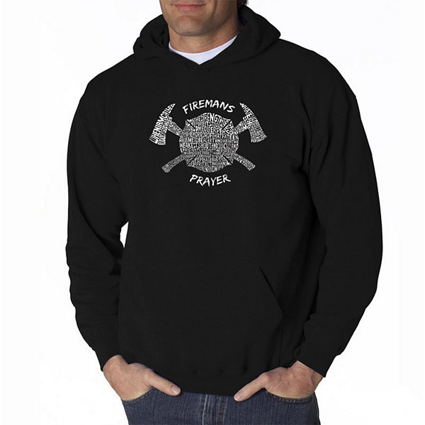 Los Angeles Pop Art Fireman's Prayer Long Sleeve Word Art Hoodie