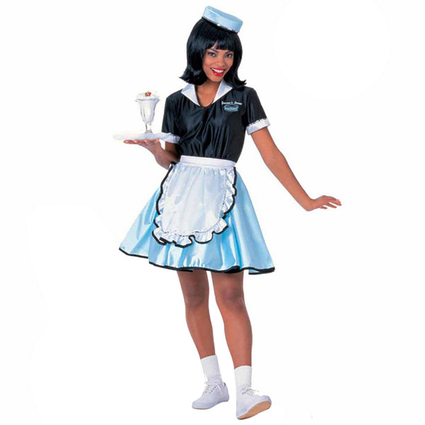 Car Hop Girl  Adult Costume - Standard One-size