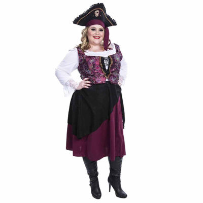 Burgundy Pirate Wench Adult Costume - X-Large (18-22)