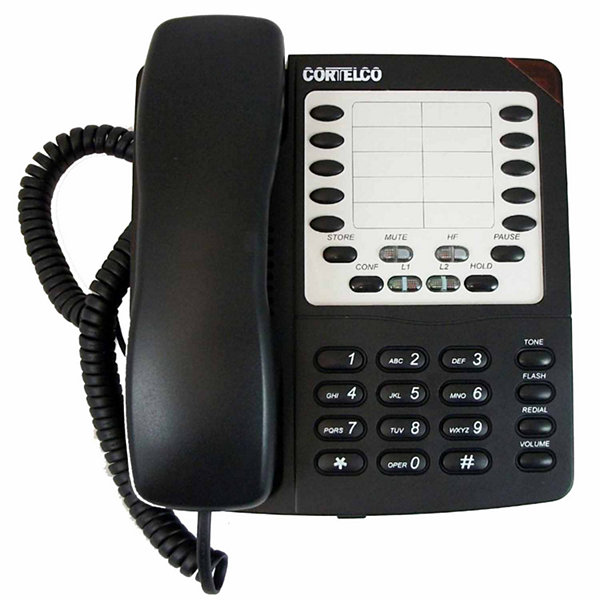Cortelco ITT-2205 Colleague 2-Line Corded Telephone with Speakerphone