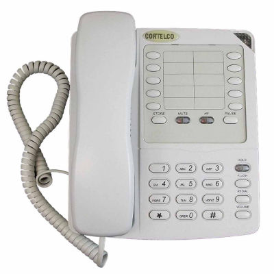Cortelco ITT-2204FROST Colleague Corded Telephone with Enhanced Speakerphone - Frost