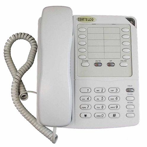 Cortelco ITT-2204FROST Colleague Corded Telephone with Enhanced Speakerphone - Frost