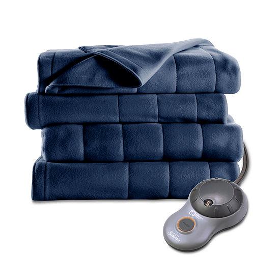 Sunbeam Heated Quilted Fleece Heavyweight Electric Blanket