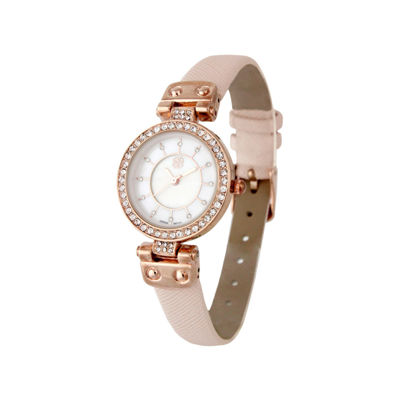 Daisy Fuentes Womens Pink Strap Watch-Df102rglp