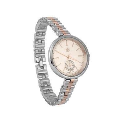 Daisy Fuentes Womens Two Tone Bracelet Watch-Df115ttrg