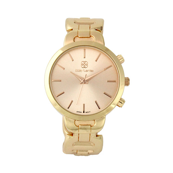 Daisy Fuentes Womens Gold Tone Bangle Watch-Df123gd
