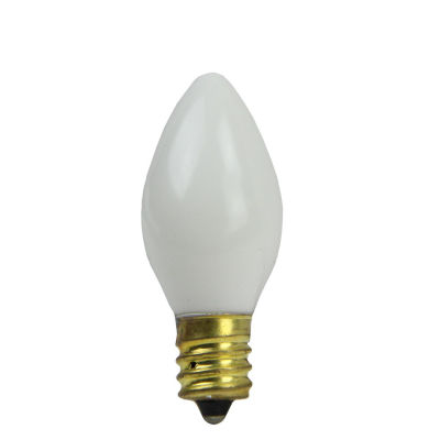 Pack of 4 Opaque Ceramic Clear C7 Christmas Replacement Bulbs