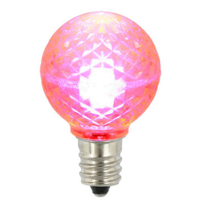 Pack of 25 LED G30 Pink Replacement Christmas Light Bulbs