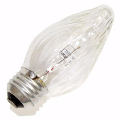 Pack of 25 Transparent Clear Flame E26 Base Replacement F15 Light Bulbs - 25W