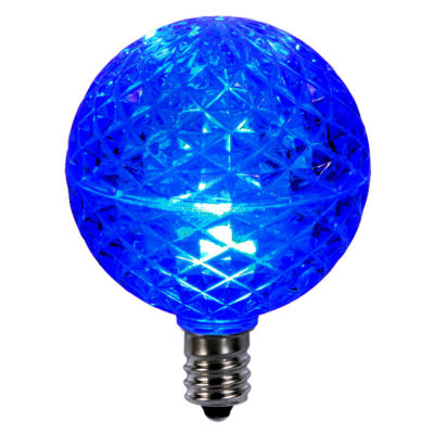 Club Pack of 25 LED G50 Blue Replacement ChristmasLight Bulbs - E12 Base