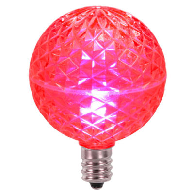 Club Pack of 25 LED G50 Pink Replacement ChristmasLight Bulbs - E12 Base