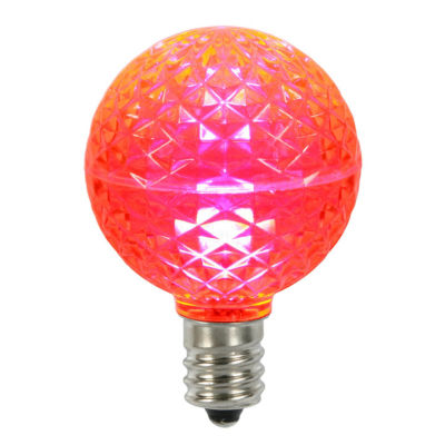 Club Pack of 25 LED G50 Pink Replacement Christmas Light Bulbs - E17 Base