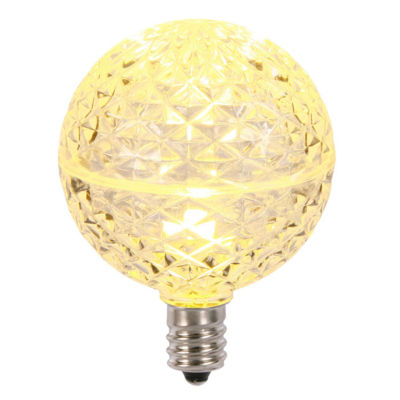 Club Pack of 25 LED G50 Warm Clear Replacement Christmas Light Bulbs - E12 Base