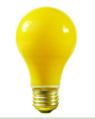 Pack of 25 Opaque Yellow E26 Base Replacement A19 Light Bulbs - 25 Watts
