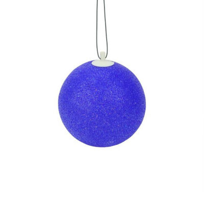 "7"" Blue Lighted Twinkling Shimmering Sphere Patio Christmas Decoration"