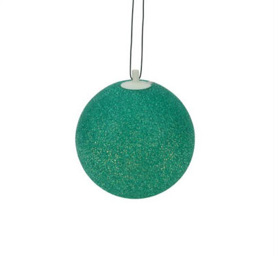 """7"""" Green Lighted Twinkling Shimmering Sphere PatioChristmas Decoration"""""""