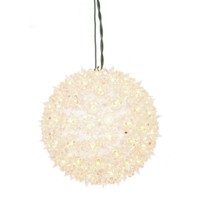 """7.5"""" Clear Lighted Starlight Hanging Sphere Christmas Ball Decoration"""""""