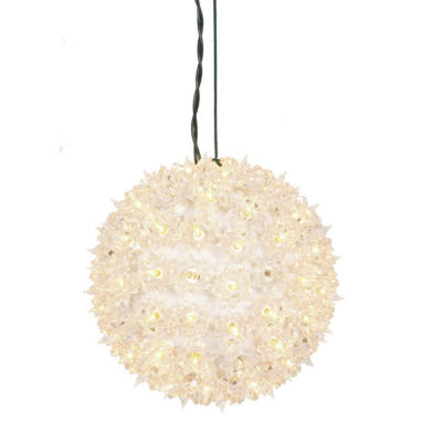 "7.5"" Clear Lighted Twinkling Starlight Sphere Christmas Decoration"""