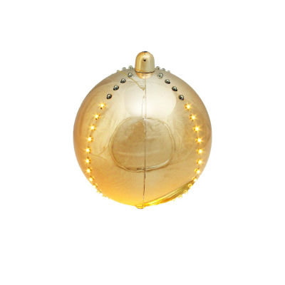 """7.5"""" LED Lighted Cascading Copper Gold Sphere Christmas Ball Decoration"""""""