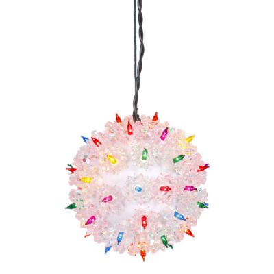 """7.5"""" Multi-Color Pre-Lit Starlight Hanging Sphere Christmas Ball Decoration"""