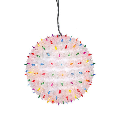 """10"""" Multi-Color Lighted Hanging Star Sphere Christmas Decoration"""""""