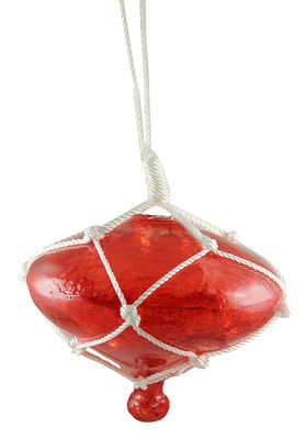 """11"""" Lighted Roped Red Onion Drop Outdoor ChristmasDecoration - Clear Lights"""""""