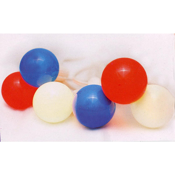 Set of 10 Red  White & Blue 4th of July G40 GlobeChristmas Lights - White Wire