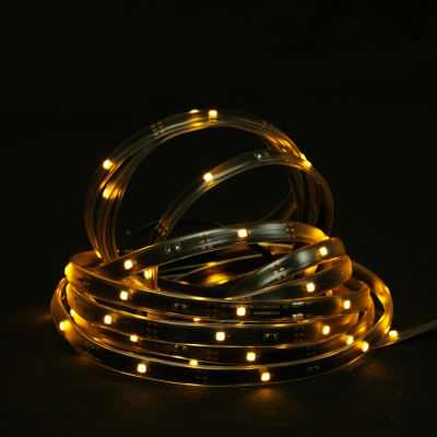 18' Amber LED Indoor/Outdoor Christmas Linear TapeLighting - Black Finish