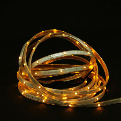18' Amber LED Indoor/Outdoor Christmas Linear TapeLighting - White Finish