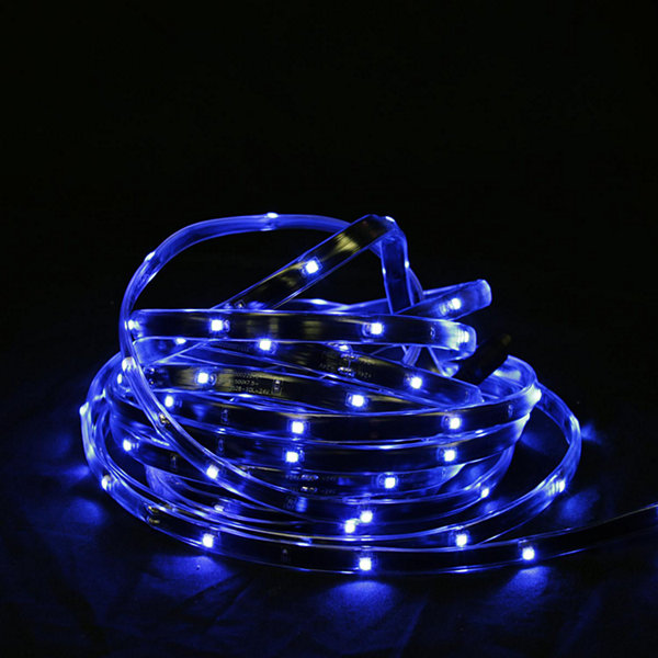 18' Blue LED Indoor/Outdoor Christmas Linear TapeLighting - Black Finish