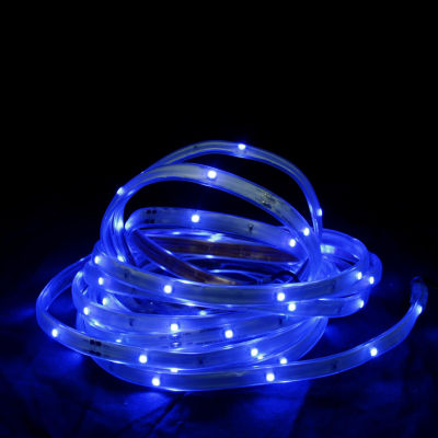 18' Blue LED Indoor/Outdoor Christmas Linear TapeLighting - White Finish