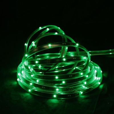 18' Green LED Indoor/Outdoor Christmas Linear TapeLighting - Black Finish