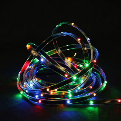 18' Multi-Color LED Indoor/Outdoor Christmas Linear Tape Lighting - Black Finish