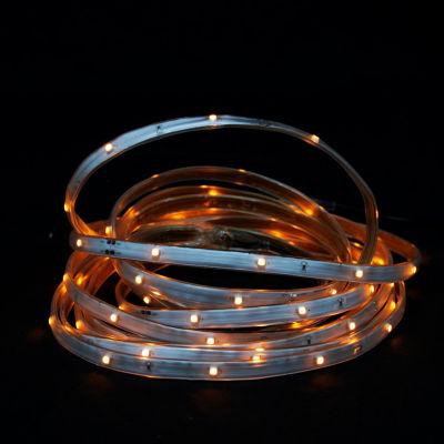 18' Orange LED Indoor/Outdoor Christmas Linear Tape Lighting - White Finish