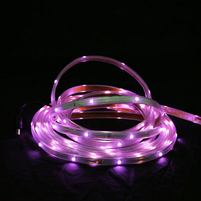 18' Pink LED Indoor/Outdoor Christmas Linear Tape Lighting - White Finish