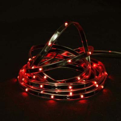 18' Red LED Indoor/Outdoor Christmas Linear Tape Lighting - Black Finish