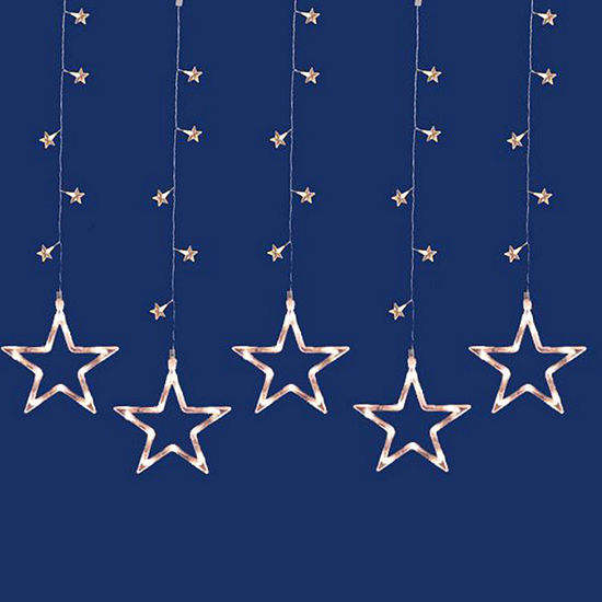 set of 100 led clear star silhouette window curtain christmas lights clear wire