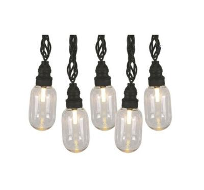 Set 25 LED T11 Oblong Edison Style Amber ChristmasLights - Black Wire