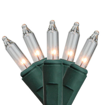 Set of 150 Heavy-Duty Commercial Grade Clear MiniLights - Green Wire Connect 6