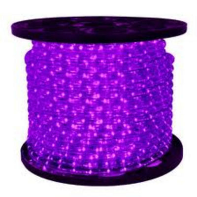 150' Commericial Grade Purple LED Indoor/Outdoor Christmas Rope Lights on a Spool