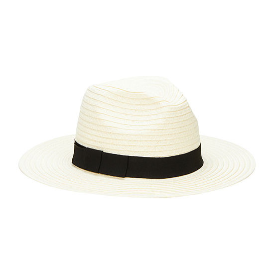 3dd07d436f07d San Diego Hat Company Women s Paper Braid Fedora with Bow